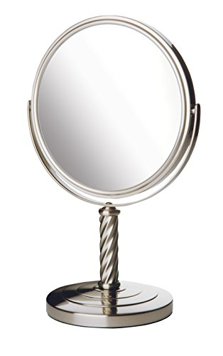 Jerdon LT5165N 8-Inch Mirror with 5x Magnification, Nickel Finish