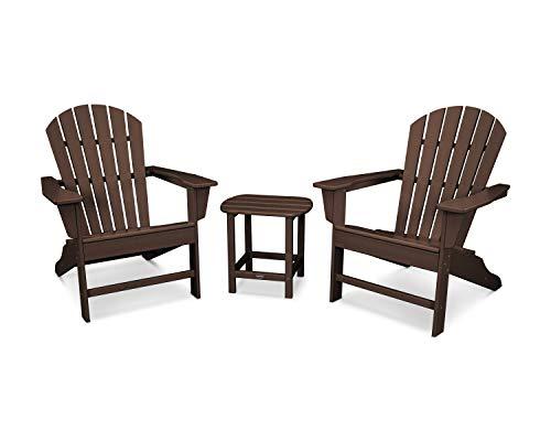 POLYWOOD South Beach Adirondack Seating Set, Mahogany ()