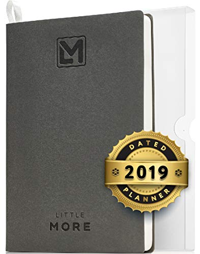 2019 Dated Organizer Planner for Minimalists| Daily Agenda to Achieve Goals and Management of Your Schedule| Productivity Goal Planner for Work & Life Balance| A5 (5.5x8.5