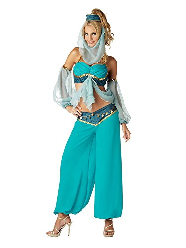 InCharacter Costumes Women's Harems Jewel Costume, Blue, Small -