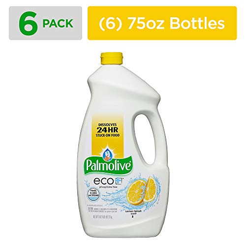(PALMOLIVE eco+ Lemon Splash Automatic Dishwashing Gel, Dish Soap, 75 Fluid Ounce Bottle (Case of 6) (Model Number: 42706CT))