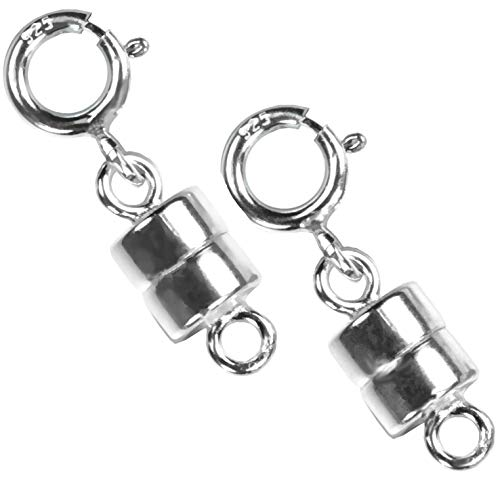 (uGems 2 Sterling Silver Converters Magnetic Clasps )