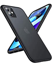 TORRAS Guardian Series Compatible for iPhone 11 Case, [6FT Military Grade Drop Protection] Translucent Hard Back with Silicone Bumper, Slim Non-Slip iPhone 11 Phone Case (6.1''), Frost Black