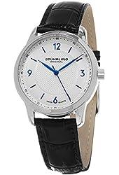 Stuhrling Original Men's Swiss Classic Leather Strap Watch Gp 15696