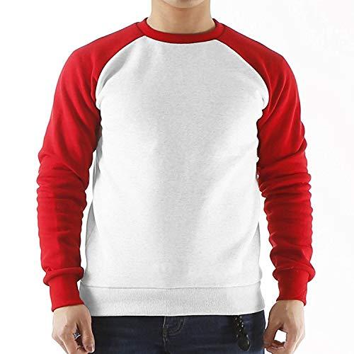 - Sweatshirt Men Long Raglan Sleeve Fleece Hoodies Streetwear Fit Tracksuit Hoodie