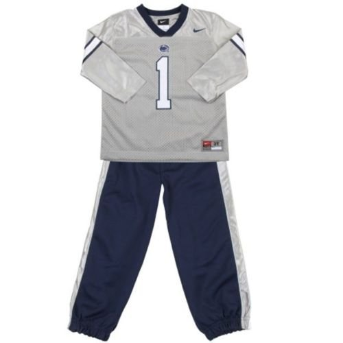 Penn State Nittany Lions Nike Baby Grey Football Jersey Pants Uniform (3-6 Months) State Nike Football Jersey