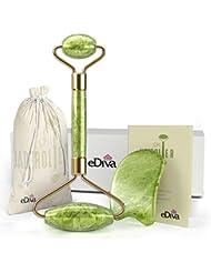 eDiva Chi Jade Rolling Kit | 100% Natural Jade Roller...