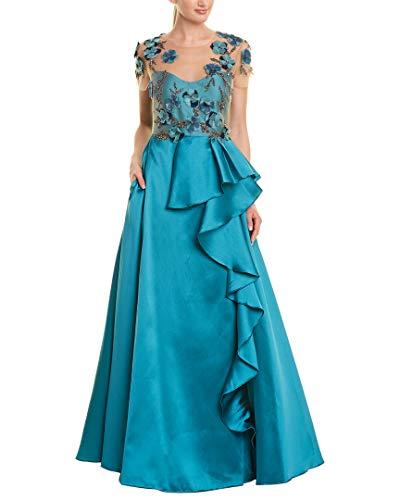 Marchesa Notte Womens Silk-Blend Gown, 2 ()