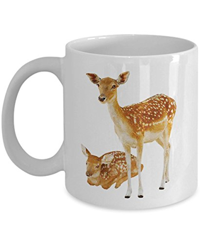 Wildlife Coffee Mugs - Deer Fawn - Ceramic Treasures Decorative Drinkware - Animal Lovers by me,myself & i DESIGNS
