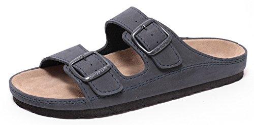 Herren Bio Clogs Tieffußbett Pantolette Sandale Slipper Schuhe NAVY BLAU Gr.41-44