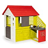 Smoby Playhouse Nature II House Outside Summer Kitchen with Cooking Accessories for Children, Green