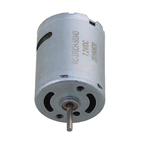 Mxfans 7.2V-8.4V 30000RPM 370 Iron Copper Electric Brush Motor RC1:16 RC1:18 Model Car (370 Motor Brush)