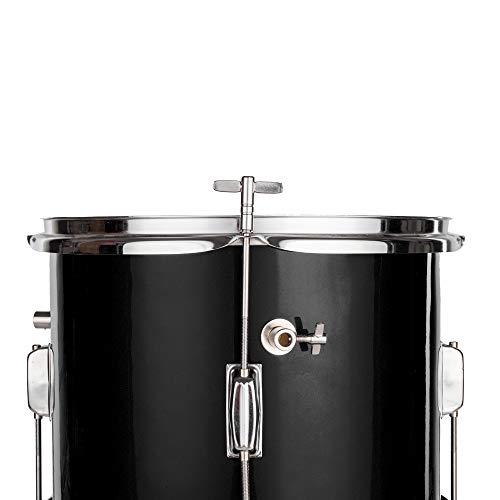 Lovinland 13''x8'' 3-Pieces Junior Kids Child Drum Set Kit Pedal Drum Stick Wrench Drum Stool Black by Lovinland (Image #5)