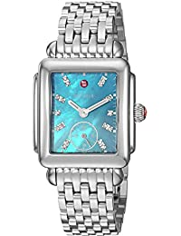 Womens Deco Mid Swiss Quartz Stainless Steel Casual Watch, Color:Silver-