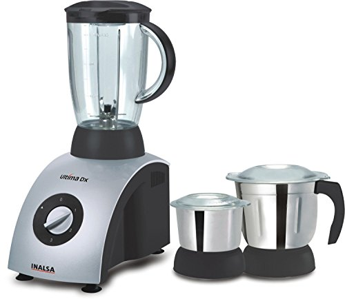 Inalsa Ultima Dx 750-Watt Mixer Grinder with 3 Jars (Grey)