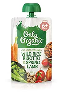 Only Organc Wild Rice Risotto & Spring Lamb 6+ Months - 120g