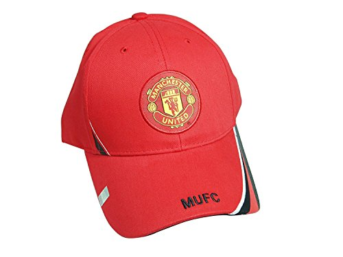 Manchester United Soccer Logo (Manchester United FC Authentic Official Licensed Soccer Cap, Manchester United FC One Size -01)