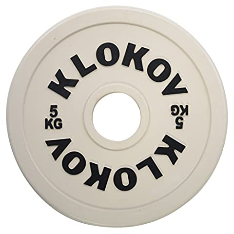 Klokov Fractional Olympic Weightlifting Plates (Pair), 5 kg by Klokov (Excellence Was Expected)