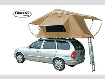 Prime Tech - Tienda de campaña para el techo del coche, 240 x 140 x 130 cm, color beige: Amazon.es: Deportes y aire libre