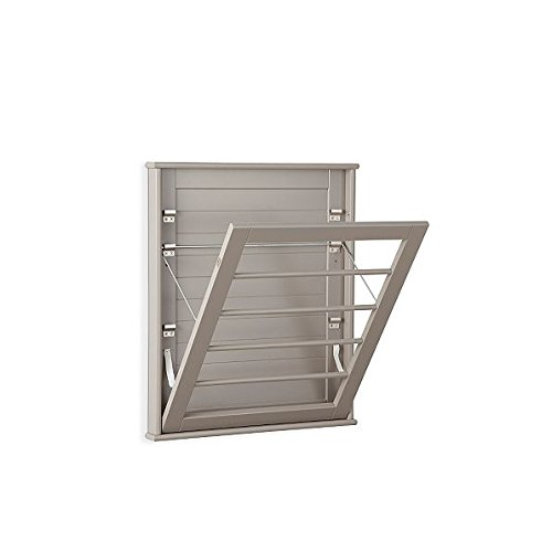 (Laundry Room Space Saving Wall Mount Clothes Clothing Drying Rack Hanger Small Taupe 23
