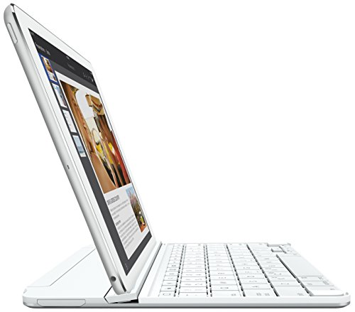 Logitech Ultrathin Magnetic Clip-On Keyboard Cover for iPad Air 2, Silver by Logitech