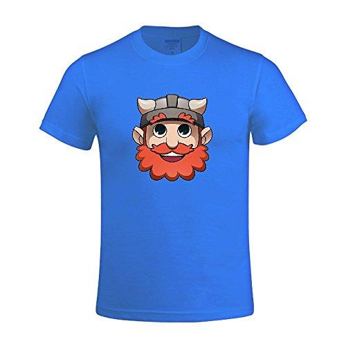 Fightor Yogscast Big Mens T Shirts O Neck Blue (Yogscast Shirts)