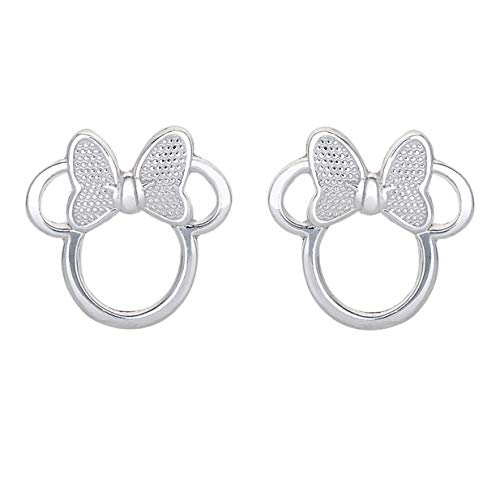 Disney Sterling Silver Minnie Mouse Stud Earrings ()