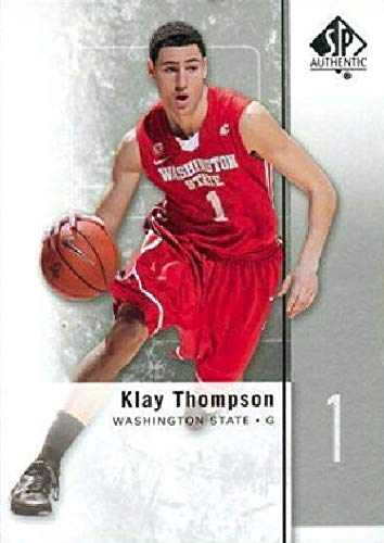 (2011-12 Upper Deck SP Authentic - Klay Thompson - Washington State Cougars - Golden State Warriors Prospect NBA Basketball Rookie Card RC #23)