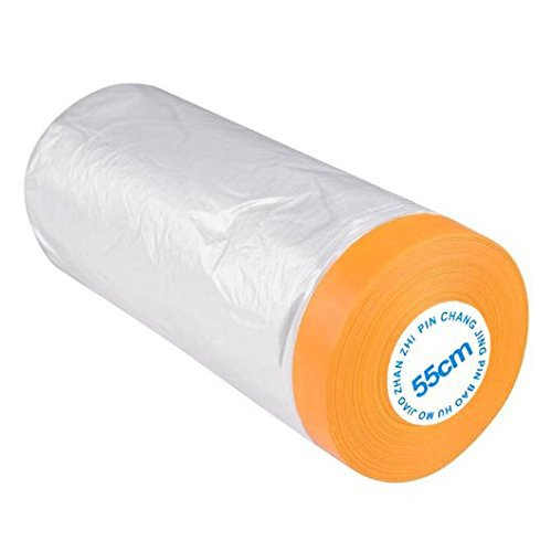 Kellyer Car Furniture Pre-Taped Drop Film Masking Tape Protection Covering Cloth 25M ()