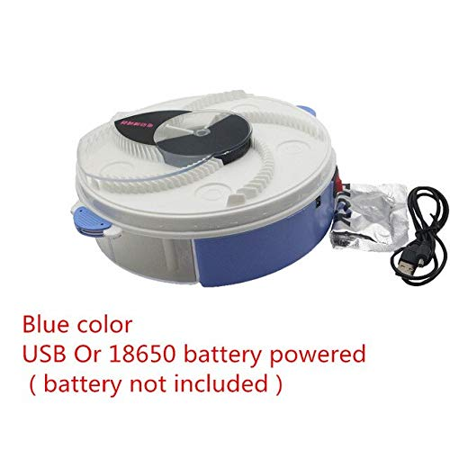 bluee color USB Type and Battery Fly Bug Mosquito Killer Buzz Electric Fly Trap Device with Trapping Food Zapper Kill   USB and Battery Type