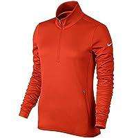 Nike Golf Women's Thermal 1/2 Zip Pullover (Team Orange/Wolf Grey) (Large)