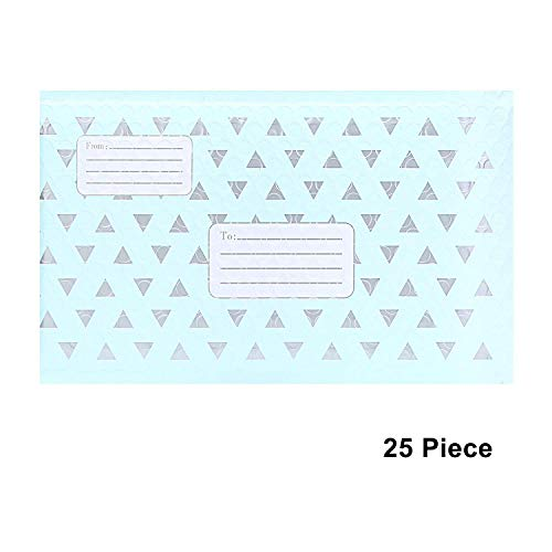 Adaman #0 6x10 Bubble Mailers with Address Labels - 25pc Padded Envelopes Mailer Bags, Self Seal Padded Envelopes (Triangle Style) (Line Poly Envelope)