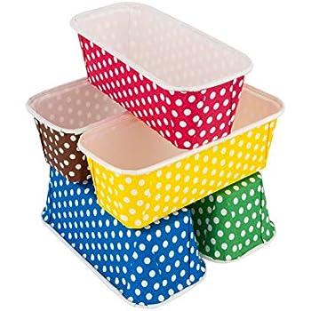 Amazon Com Wilton Petite Loaf Baking Cups White 415 450