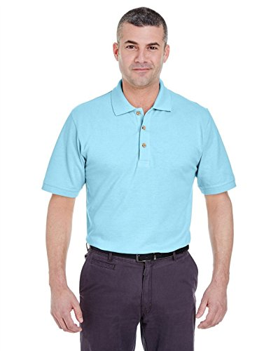 UltraClub 8535 Mens Classic Pique Polo Baby Blue 4X-Large