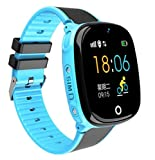 GPS Watch Kids GPS/LBS Tracker Watch Phone IP67 Waterproof SOS Call Function GPS WiFi LBS Real Time Tracking Health Steps Activity Tracking Smartwatch Gift for Boys Girls – Top Configuration Version