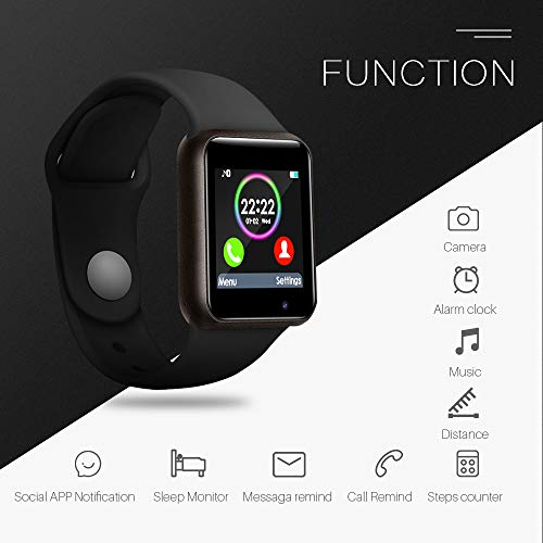 9637c68f233 Lansen Smart Watch Compatible with iPhone 5s 6 6s 7 7s and Android ...