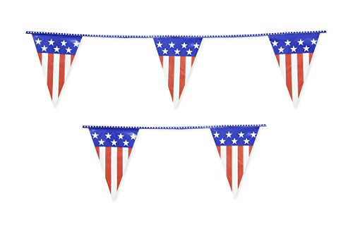 USA Flag Pennant Stars and Stipes String Flags Banner 33ft 4th of July Decoration ()