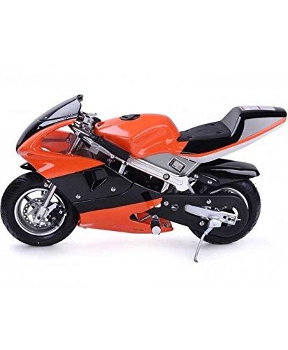 Rosso Motors Motorcycle for Kids 49cc Gas Mini Pocket Bike Orange Black - EPA Approved