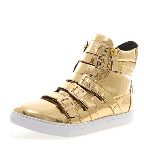Hoppe J75 Mænds Fanatiker High-top Fashion Sneaker Guld tWP05rt