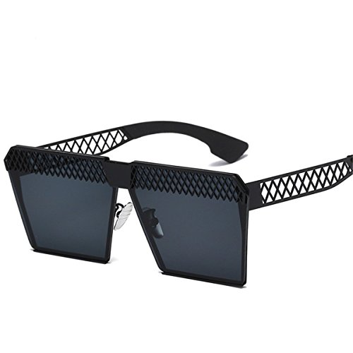 O Soleil XGLASSMAKER polarized Creux Miroir Polarisées Light Mode Carré Lunettes Tendance Plat De RBxRw1qv