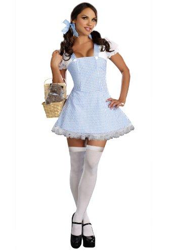 Dorothy Costume Halloween (Dreamgirl Gingham Dress, Light Blue, Medium)