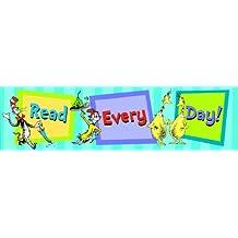 "Eureka 849663 Dr. Seuss Classroom Banner, Read Every Day, 12 x 45"""