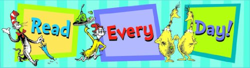 Eureka Dr. Seuss Classroom Banner, Read Every Day, 12 x 45