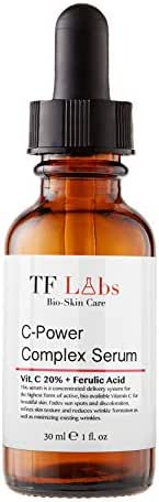 TF Labs-The Best Vitamin C Serum for face - Anti-aging, Antioxidant,Dark spot corrector - with Vegan hyaluronic acid