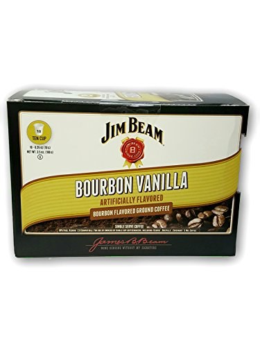 New Jim Beam Bourbon Vanilla K-cup Single Serve Coffee 10 (Bourbon Vanilla Pods)