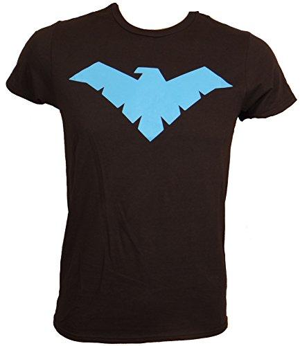 DC Comics Batman Nightwing Symbol Logo T-shirt (Small,Black)