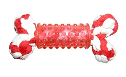 Capac VARIANA Os en corde 14 cm rouge
