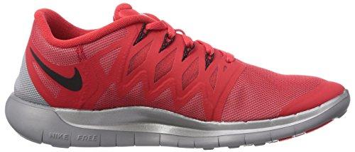 Nike Free 5.0 Flash - Zapatillas de running Unisex adulto Rojo (Actn Rd/Blk-Rflct Slvr-Wlf Gry 600)