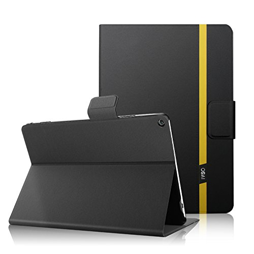 IVSO Huawei MediaPad M5 8.4 inch Tablet Case Leather Slim Book Case - Front Prop Stand Cover Case JUST for Huawei MediaPad M5 8.4 inch Tablet NOT for Any Other Model (Black)