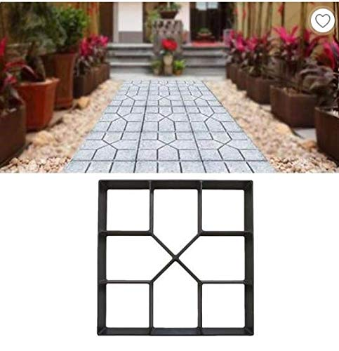 DIY Garden Paving Mould Patio Concrete Stone Lawn Walk Maker Slabs Path Brick UK